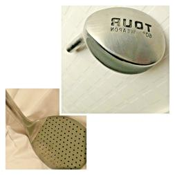 VINTAGE DESKTOP PAPERWEIGHT MADE FROM ACTUAL GOLF LOB WEDGE